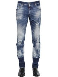Dsquared 16.5Cm Cool Guy Acid Wash Denim Jeans Blue