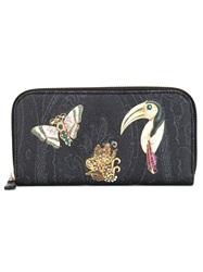 Etro Butterfly And Bird Wallet Black