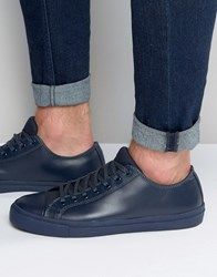 Aldo Amede Trainers In Blue Leather Blue