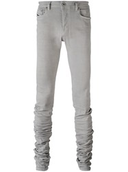 Diesel Black Gold Extended Leg Skinny Trousers Grey