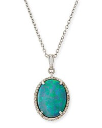 Gurhan Taormina Cabochon Opal Necklace With Diamonds