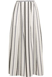 Peter Pilotto Latmos Ruched Satin And Chiffon Maxi Skirt White