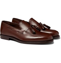 Paul Smith Larry Leather Tasselled Loafers Brown