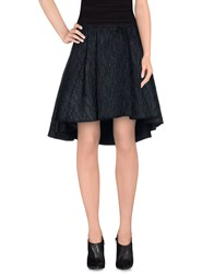 Max And Co. Knee Length Skirts Dark Blue