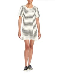 French Connection Striped Knit Tee Dress Brule Indigo