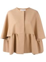 Gianluca Capannolo Pleated Jacket Nude Neutrals