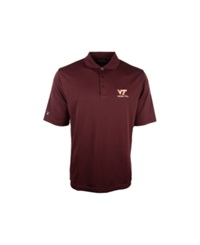 Antigua Men's Virginia Tech Hokies Pique Extra Lite Polo Shirt Maroon