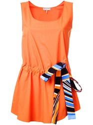 Emilio Pucci Bow Detail Tank Top Yellow Orange