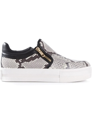 Ash Python Effect Slip On Sneakers