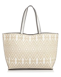 Echo Small Ikat Tote Med Beige