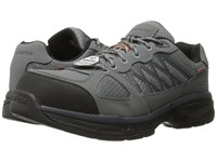 Skechers Conroe Searcy Gray Leather Mesh Black Trim Men's Work Boots