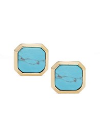 Lauren Ralph Lauren Turquoise Square Clip On Earrings