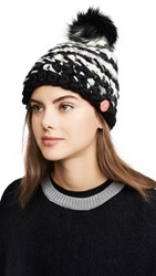 Mischa Lampert Deep Stripe Hat Black And White