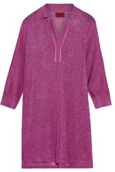 Missoni Oversized Metallic Knitted Tunic Magenta
