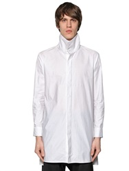 D.Gnak High Collar Cotton Poplin Shirt