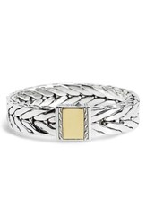 John Hardy Men's Modern Chain Extra Large Chain Bracelet Silver Gold