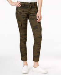 Hudson Jeans Cropped Skinny Cargo Rustic Camo Print