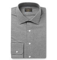 Emma Willis Grey Slim Fit Brushed Cotton Shirt Gray