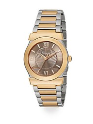 Salvatore Ferragamo Vega Two Tone Stainless Steel Watch Gold Silver