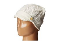 Michael Michael Kors Cable Knit Peak Hat With Knit Brim Cream Knit Hats Beige