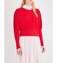Claudie Pierlot Mathys Knitted Jumper Ruby