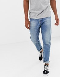 Bershka Straight Fit Jeans Light Blue Light Wash