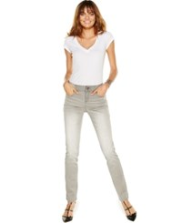 Inc International Concepts Curvy Fit Elastic Waist Skinny Jeans Thunder Grey Wash