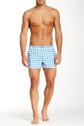 Parke And Ronen Plaid Angeleno Short Blue