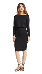 Monrow Baby Thermal Double Layer Dress Black