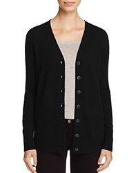 Bloomingdale's C By Cashmere Button Front Cardigan 100 Exclusive Black