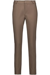 Raoul Cropped Cotton Blend Skinny Pants Mushroom