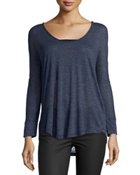 Joie Lissey Dolman Sleeve Knit Top Heather Dark Navy