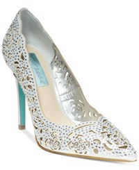 Blue By Betsey Johnson Elsa Evening Pumps Women's Shoes Silver
