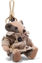 Burberry Checked Cashmere Keychain Brown