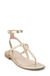 G.H. Bass Women's And Co. Michelle Sandal Gold Leather