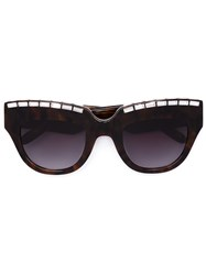 Vera Wang Embellished Cat Eye Sunglasses Brown
