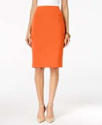 Alfani Classic Pencil Skirt Only At Macy's Brushed Coral