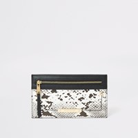 River Island Grey Snake Printed Card Holder Pouch Purse
