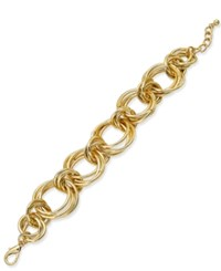 Charter Club Gold Tone Rolling Knot Link Bracelet Only At Macy's