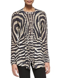 Cullen Tiger Print Open Cardigan Medium