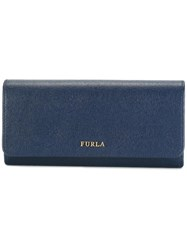 Furla Fold Over Continental Wallet Blue