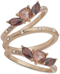 Lonna And Lilly Gold Tone 3 Pc. Set Multi Stone Rings Created For Macy's Purple