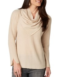 Democracy Ribbed Cowlneck Sweater Oatmeal