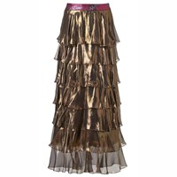 Supersweet X Moumi Gold Foiled Genie Skirt Black Gold