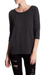 Bb Dakota Oxalis Dolman Stripe Tee Black