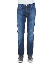 Acne Studios Roc Verakai Slim Fit Jeans Blue Navy