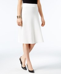 Alfani Milano Fit And Flare Sweater Skirt Only At Macy's Soft White