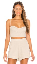 Indah Poppy Bustier Top In Taupe. Natural