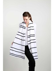 Johnstons Of Elgin Cashmere Bi Stripe Stole Neutral