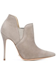 Schutz Pointed Toe Ankle Boots Grey